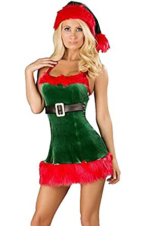maxde sexy christmas lingerie for women playboy christmas elf costume with hat clothing. Black Bedroom Furniture Sets. Home Design Ideas