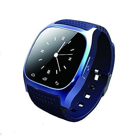 Reloj inteligente con Bluetooth, Hinmay desbloqueado, teléfono celular con monitor de pasómetro, reloj de pulsera SMS, ...