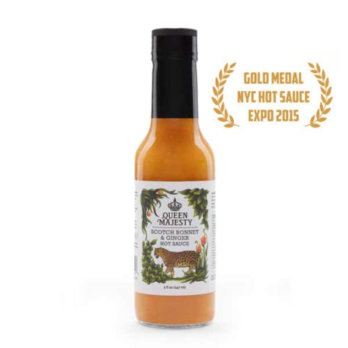 Queen Majesty Scotch Bonnet & Ginger Hot Sauce 5oz