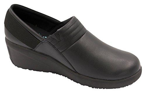 Black Women's Black on Footwear Leather Infinity Footwear SRnTfWWF