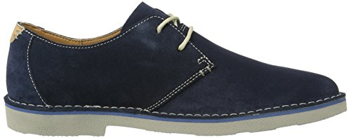 Clarks 261239927, Zapatos Derby Hombre Azul (Navy Suede)