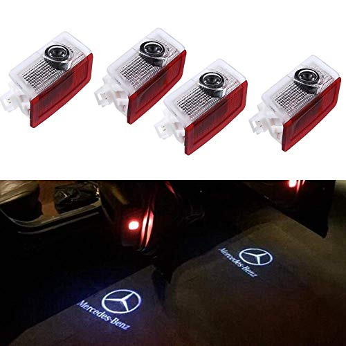 2017 Mercedes Benz S500 - IHEX Auto Car Door LED Light Projector Ghost Shadow Lights Welcome Lamp for Mercedes-Benz E A B C ML Class w212 w166 w176 Series(4 Pack)