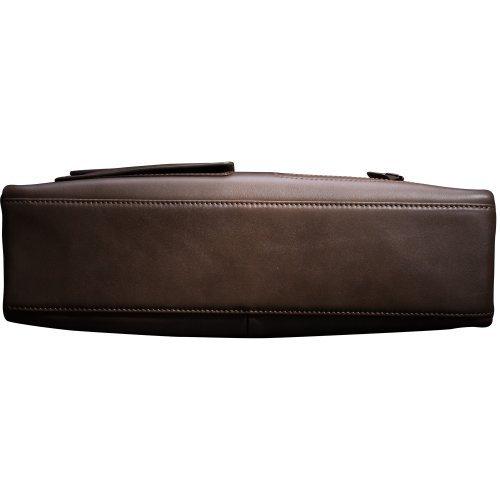 Mens Business Tote Handbag Doctor Leather Document Clutch Bag Strap by MXPBJ (Image #5)