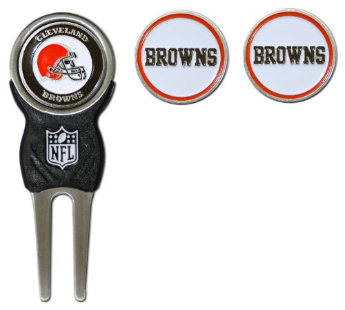 NFL Cleveland Browns Divot Tool Pack With 3 Golf Ball Markers Cleveland Browns Ball Marker