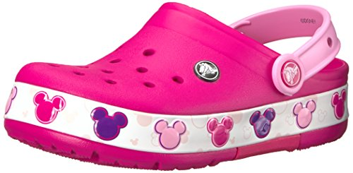 Crocs Baby Crocband Mickey FnLb Lights K Clog, Candy Pink, 8 M US Toddler