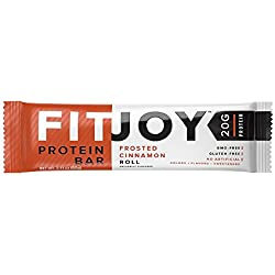 FitJoy Nutrition Protein Bar, Frosted Cinnamon Roll, 12 Count