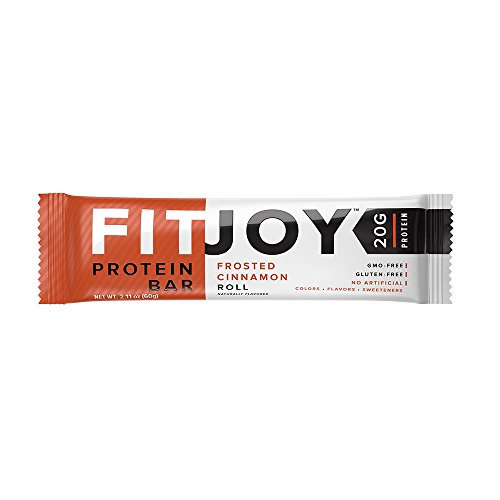 FitJoy Nutrition Protein Bar, Frosted Cinnamon Roll, 12 Count (Quest Cinnamon Roll Protein Bar compare prices)