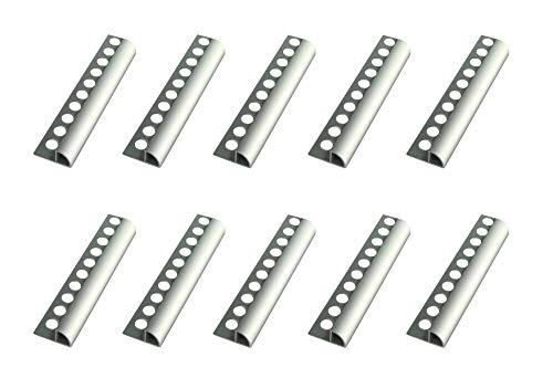 50 Meters – Height: 6mm Premium Fuchs Tile Trim Round Edging Aluminium Silver matt – 1mm Thickness – 250cm Tile Trim