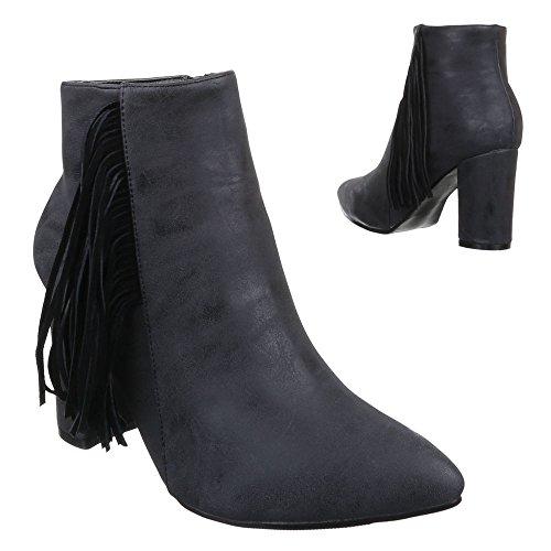 Ital-Design - Botas De Vaquero Mujer negro