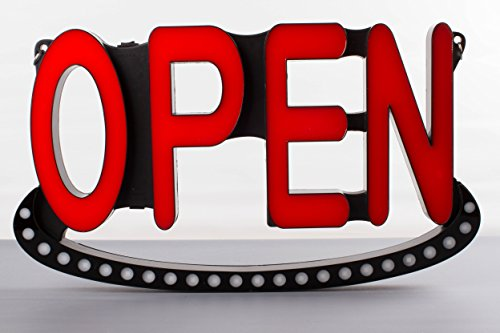 (Brightest LED OPEN Sign for Business Storefront Window Display 19