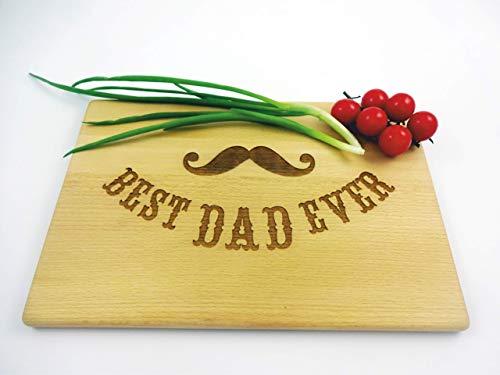 Cutting board Mustache BEST DAD EVER 13x8