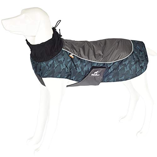 Tellpet Dog Jackets Dog Coats Waterproof Coats Dogs Windproof Cold Weather Coats, XX-Large, Camouflage Blue