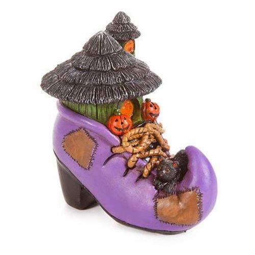 ShopForAllYou Figurines and Statues Miniature Dollhouse Halloween Fairy Garden Witch Shoe Boot House Figurine Statue ()