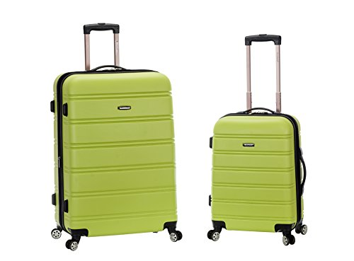 Rockland 20 Inch 28 Inch 2PC Expandable ABS Spinner Set, Lime, One Size by Rockland