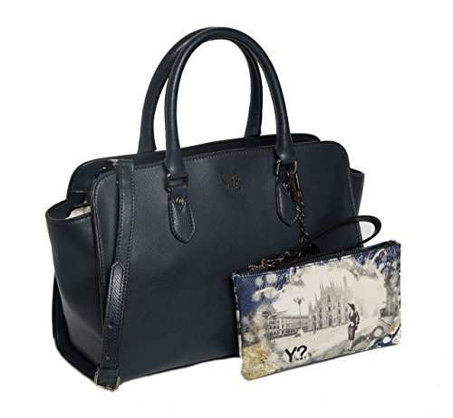 Borsa donna Y Not bauletto in vera pelle 720 M BLU