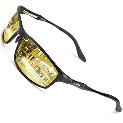 Night Vision Glasses For Driving,Polarized Sunglasses Anti Glare Safe HD Night Driving Glasses