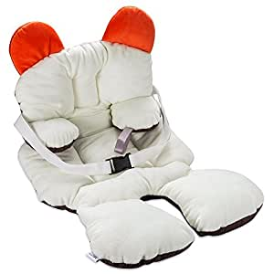 Freesoo coj n reductor para sillas de beb 0 12 meses suave algod n almohadilla estera - Reductor silla paseo ...