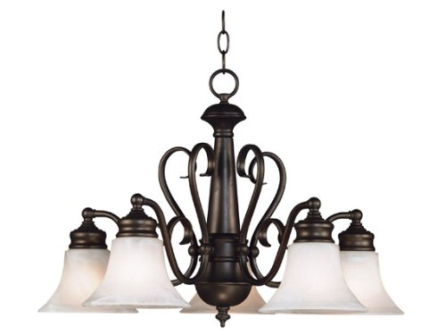 Kenroy Home 91395BBZ Wynwood 5-Light Chandelier, Burnished Bronze