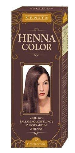 Henna Color 18 Cereza Negra Cherry Bálsamo Capilar Tinte Para Cabello Efecto De Color Tinte De Pelo Natural Gallina Eco Venita