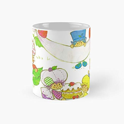 (Picnic With Strawberry & Friends Vintage, Card, Inspired, Retro, Strawberry, picnic Funny Mugs, 11 Ounce Ceramic Mug, Perfect Novelty Gift Mug, Tea Cups, Funny Coffee Mug 11oz, Tea Mugs)