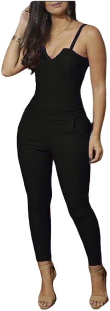 Losait Womens Solid-Colored Premium Empire Waist Butt Lift Jumpsuits