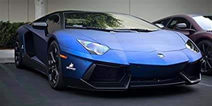 Amazon Com Lamborghini Aventador Blue Right Front Hd Poster Super