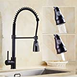 FZHLR Kitchen Faucets Spring Pull Down Kitchen Tap Dual Spouts 360 Swivel Handheld Shower Kitchen Mixer Crane Hot Cold Spring Taps
