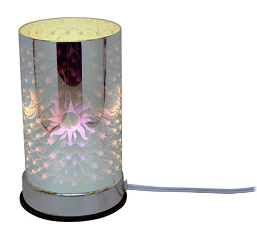 l&v Electric Touch Fragrance Aromatherapy Lamp Oil Warmer 3 D Effect Celestial Design