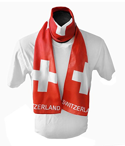 Swiss Flag Print Scarf 64