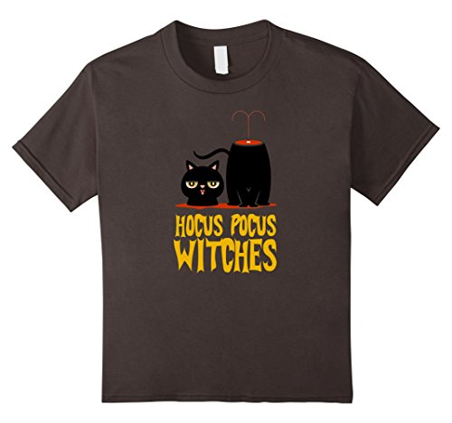 Kids Hocus Pocus Witches Shirt with Black Magician Cat 10 (Hocus Pocus Which Costumes)