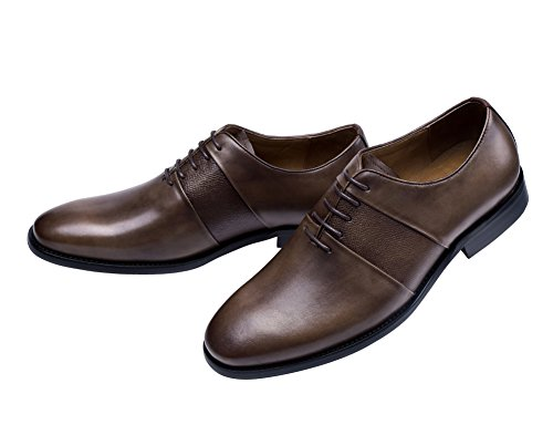 Tortor 1bacha Mens Lace Up Dress Oxford Shoes Brown