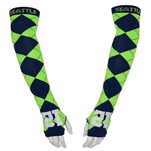 Seattle Football Fan 12 man Arm Socks (Argyle)