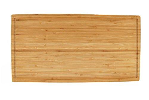 BambooMN Brand - Heavy Duty Premium Bamboo Cutting Board - 19.8