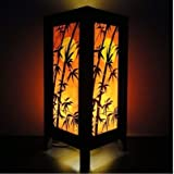 Thai Vintage Handmade ASIAN Oriental Japanese Dawning Sunset Bedside Floor or Table Lamp Shades Decor