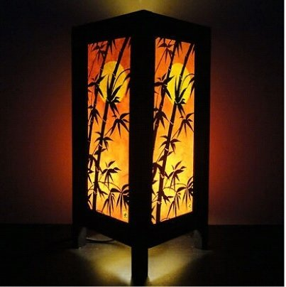 Thai Vintage Handmade ASIAN Oriental Japanese Dawning Sunset Bedside Floor or Table Lamp Shades Decor (Copter (Chloe's Closet Halloween)
