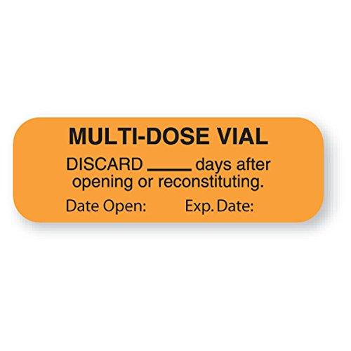 Divine Medical Multi-Dose Vial Labels 1-1/2''W x 5/8''H by CeilBlue (Image #1)