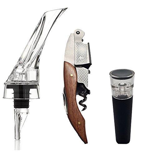 waiters-corkscrew-wine-aerator-pourer-and-bottle-vacuum-stopper-gift-set