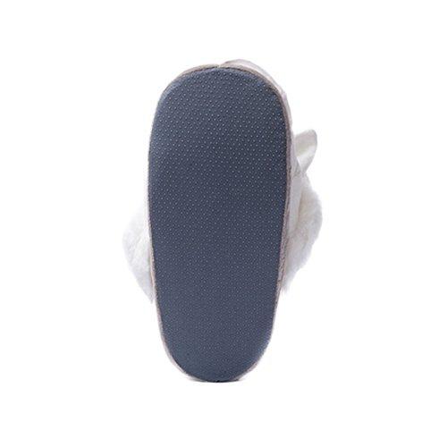 Rainbow Fox® - Zapatillas de estar por casa de Material Sintético para mujer 37-42 yards. blanco