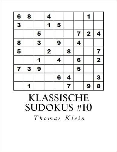 Book Klassische Sudokus 10: 300 Sudokus 9 x 9: Volume 10