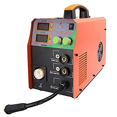 DPL MIG Welder MIG/TIG/ARC Welder 3 in 1 Welding Machine DC 220V 200A MMA Inverter IGBT Digital Display MIG200