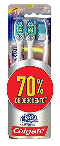 3 piezas de Cepillo Dental Colgate 360 Surround