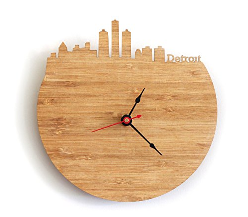 Detroit Skyline Clock