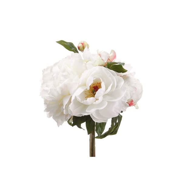 11.5″ Peony Bouquet Cream (Pack of 6)