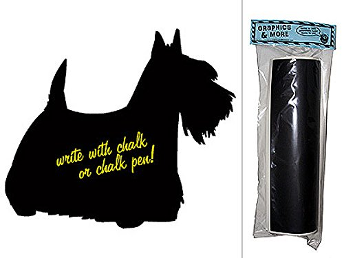 g Scottish Terrier Chalkboard Vinyl Sticker Decal Wall Decor ()