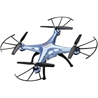 Syma Xmas Gift 2.4GHZ Wireless Remote X5HC 2.0MP HD Camera Barometer Altitude Hold 6 Axis Gyro RC Headless Quadcopter Drone with Floureon Propeller