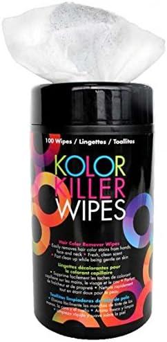 Framar Toallitas profesionales para eliminar el tinte de pelo Kolor Killer de 100 toallitas -