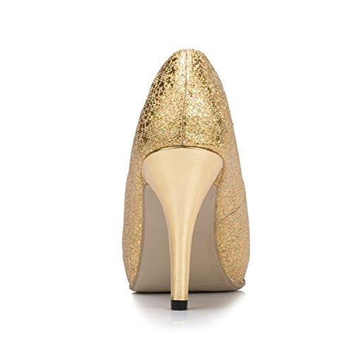 Kevin Fashion ,  Damen Modische Hochzeitsschuhe Gold