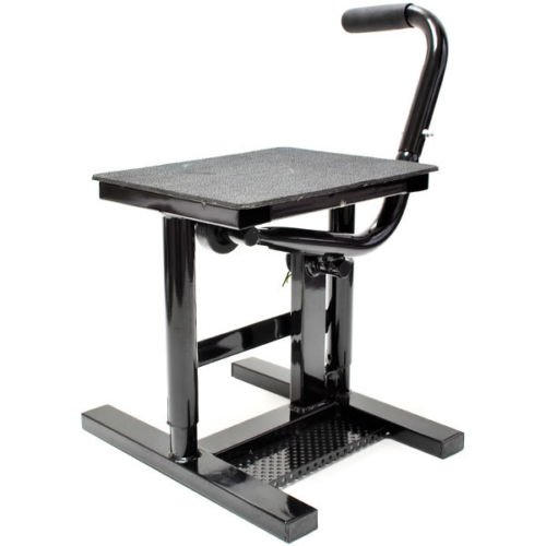 (Comie New Motorcycle Motocross Racing MX Offroad Dirt Bike Steel Lift Stand - Black)
