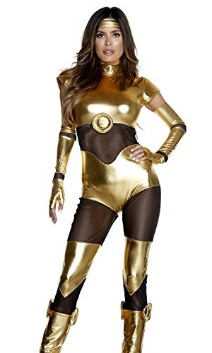Forplay Women's Like It's Golden Sexy Movie Character Costume, Gold, ()
