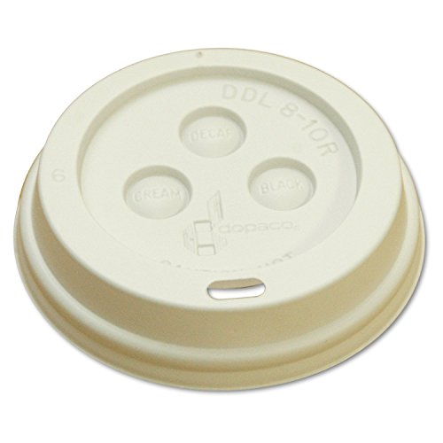 Boardwalk 8DOMELID Hot Cup Dome Lids, 8 oz, White (10 Sleeves of 100)